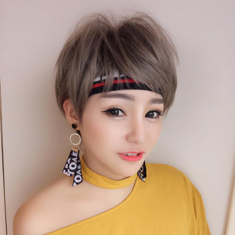 假发女短发,短直发bobo头,韩国波波头,狗啃刘海蓬松修脸,自然逼真帅气