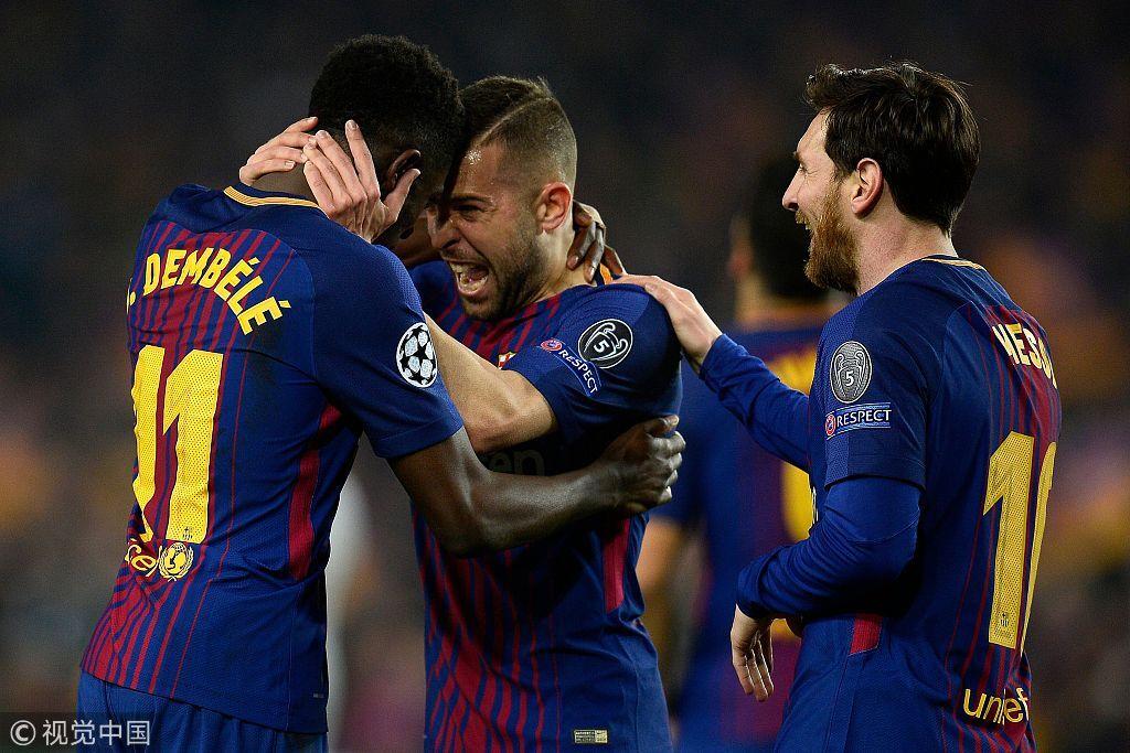 梅西2射1传迎欧冠百球 巴萨总分4
