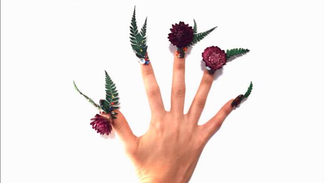 日本美甲艺术,指甲都快成花盆了
