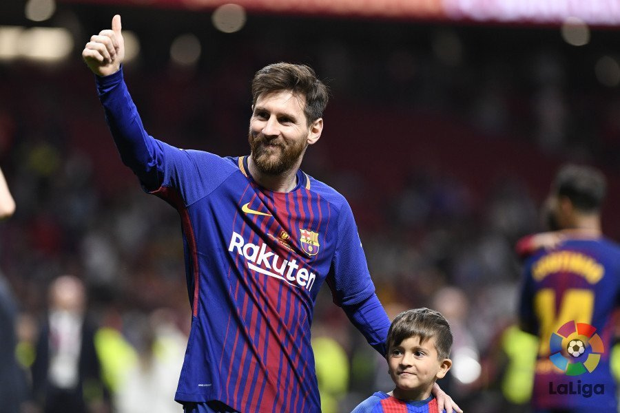 连续9年进球40+!梅西获巴萨第31冠 一战又创N纪录
