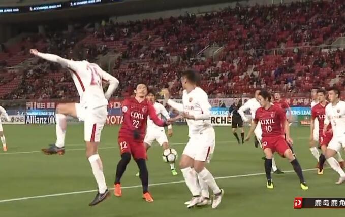 争议!日球员破门前手球在先 竟无上港球员抗议