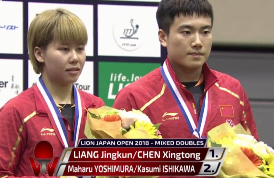 中国组合混双豪取两连冠,混双进奥运,日本为中国做嫁衣