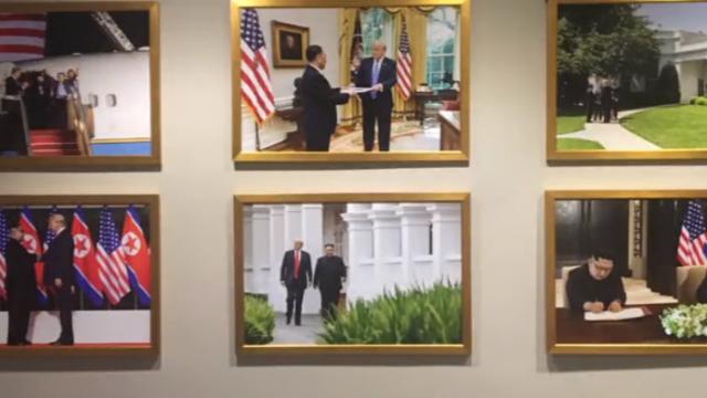 美媒惊呆:西方面孔不见了,白宫挂满金正恩照片
