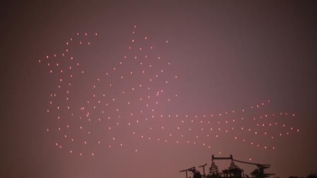 壮观!1400架无人机空中作诗,庆祝大唐定都1400年