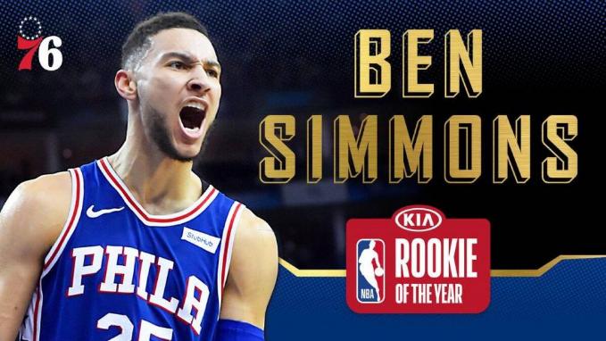NBA颁奖:西蒙斯斩最佳新秀奖 最快进步奖奥迪压卡皇