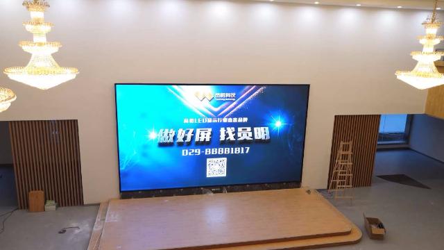 员明 | 西京小学LED显示系统调试完毕