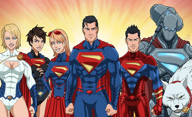 超人组合,超级女侠,萨·艾尔,卡拉·佐·艾尔,超人,钢人,小氪