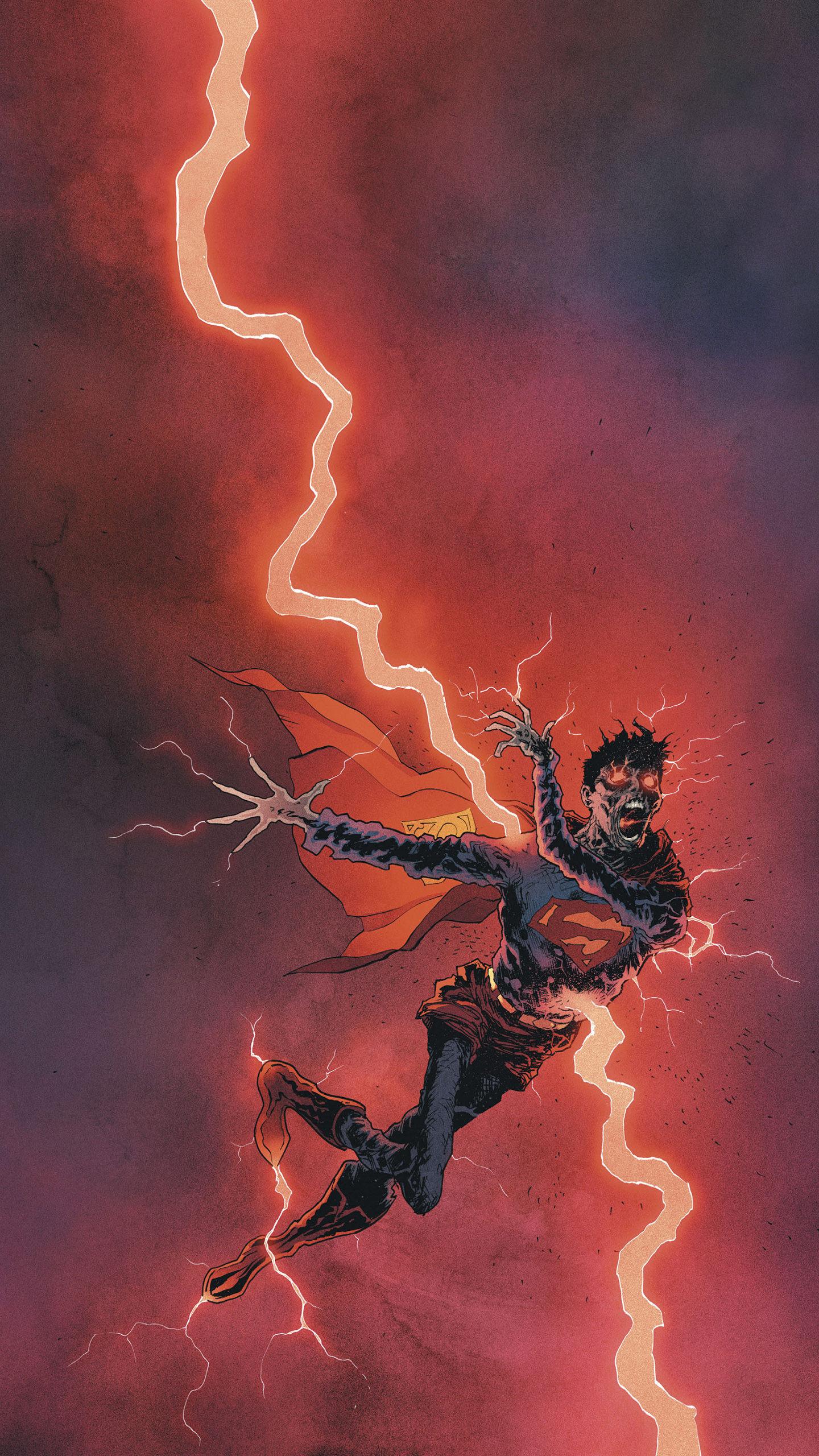 9张dc漫画英雄手绘壁纸,超人不小心遭雷劈