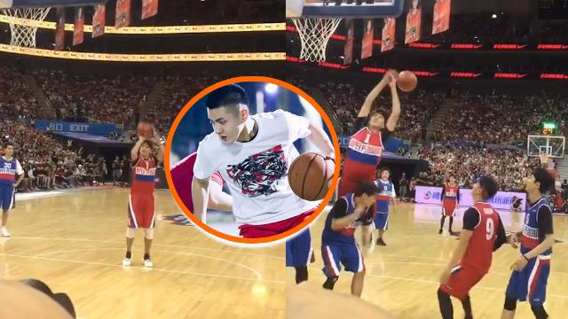 吴亦凡耍酷打篮球,看到最后空气中有一丝丝尴尬