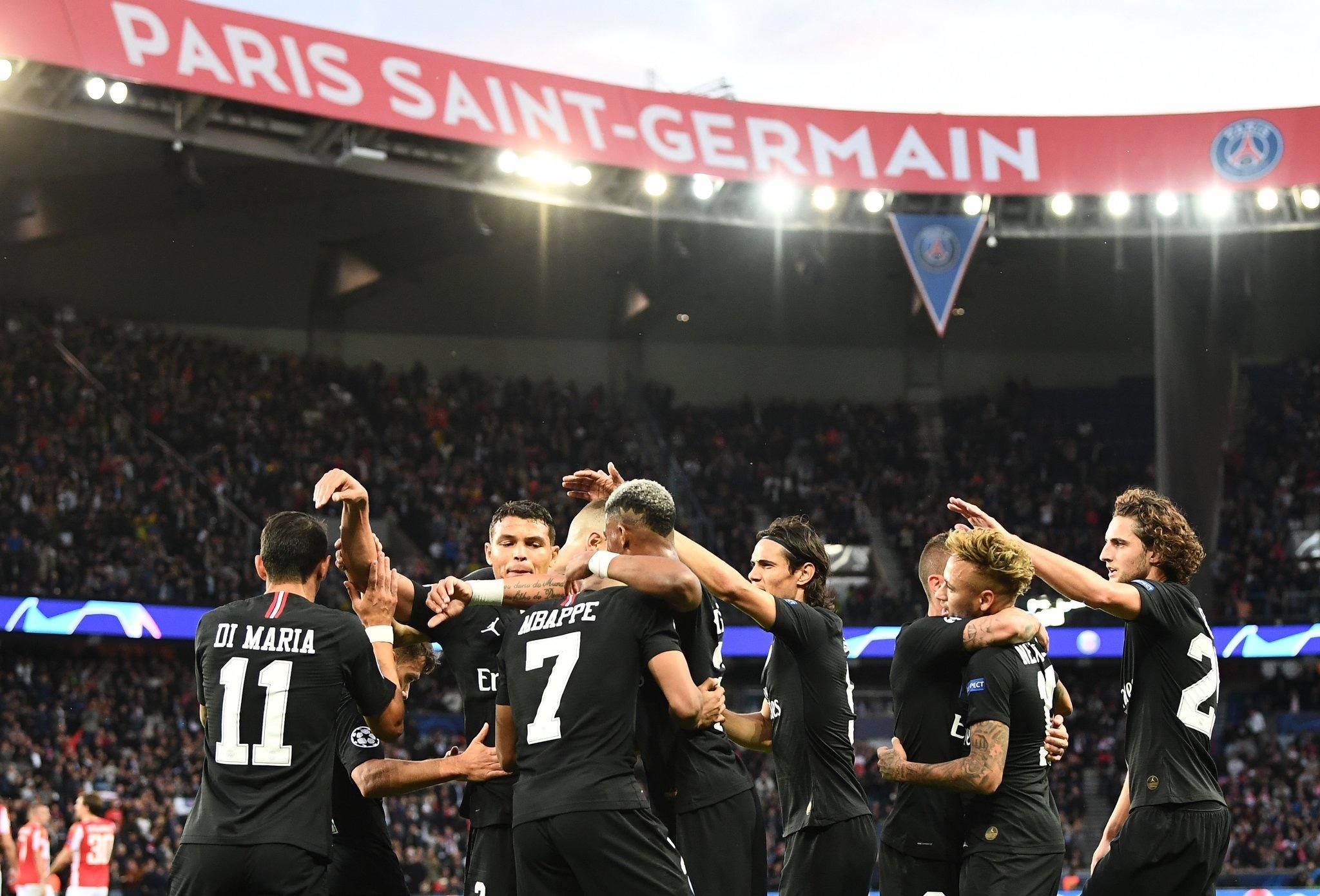 恐怖!大巴黎45分钟打垮前欧冠冠军 争冠大戏算它一个