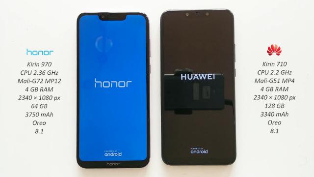 华为Honor Play华为Nova 3i速度测试对比