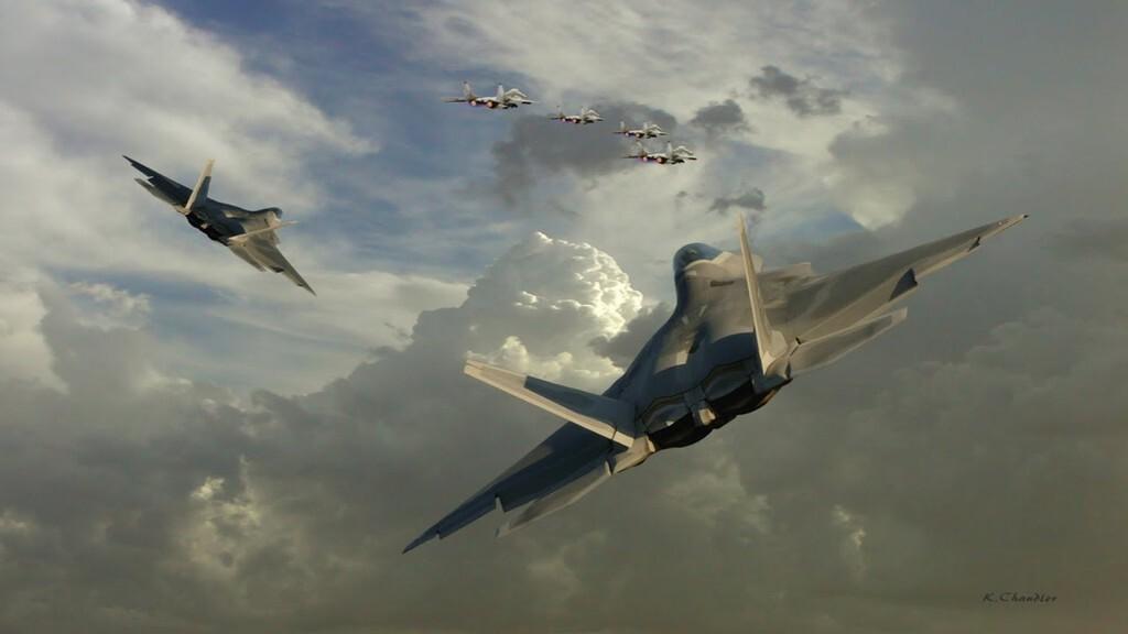 """美军F22开挂!在叙利亚上空""""战斗增援""""以1敌600"""