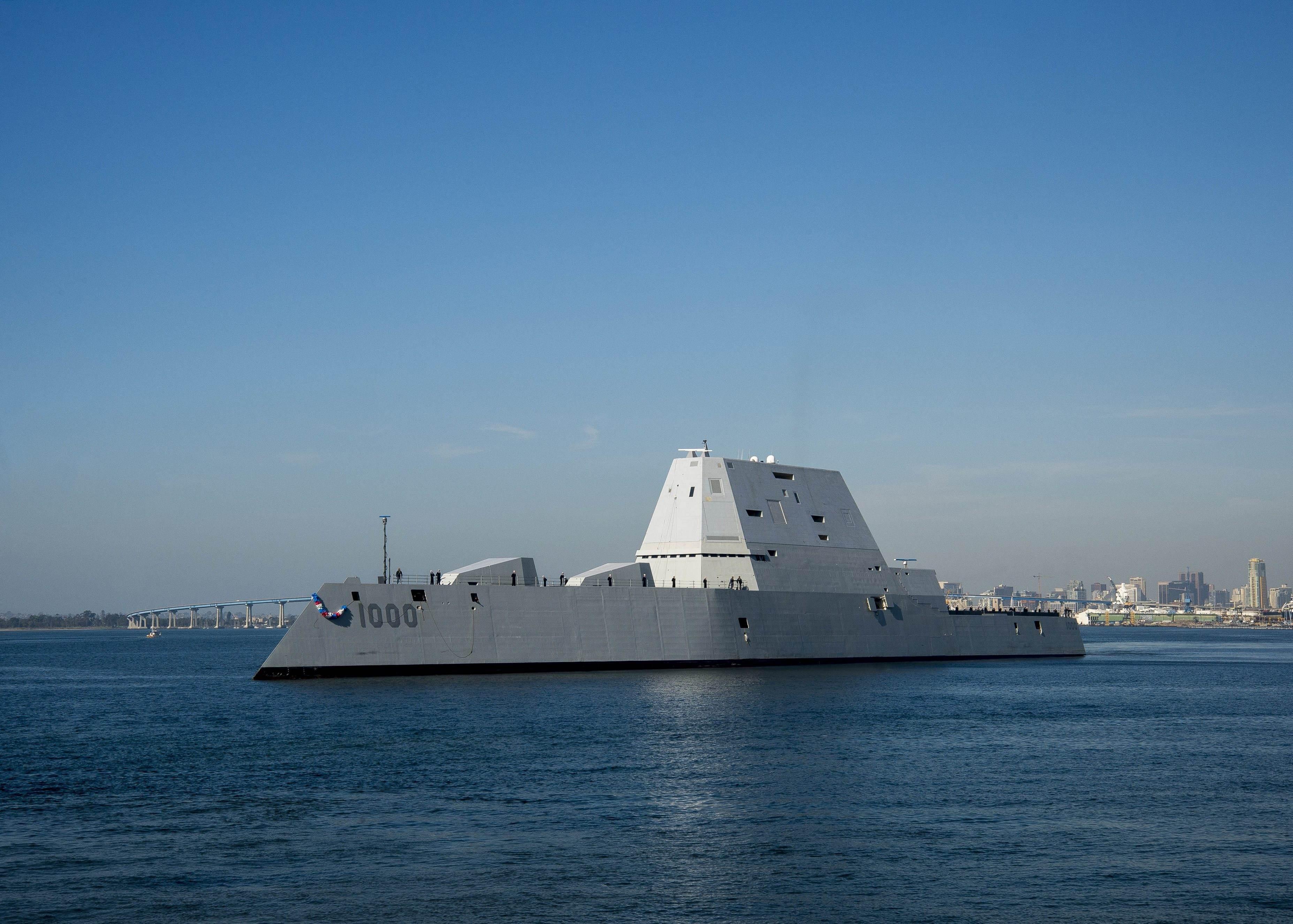 被中国055舰的进度吓到了?美军称要造更大巡洋舰