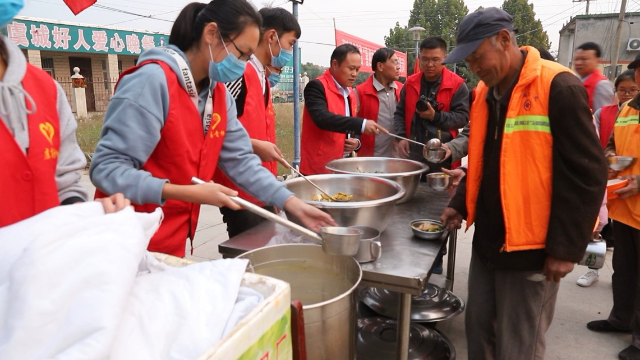 虞城县中腾建筑劳务有限公司助力爱心晚餐