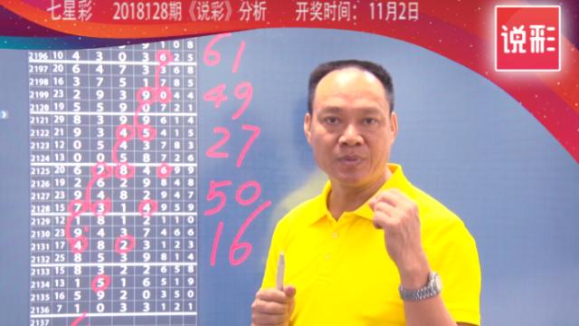 说彩-2018-11-2七星彩开奖预测资讯