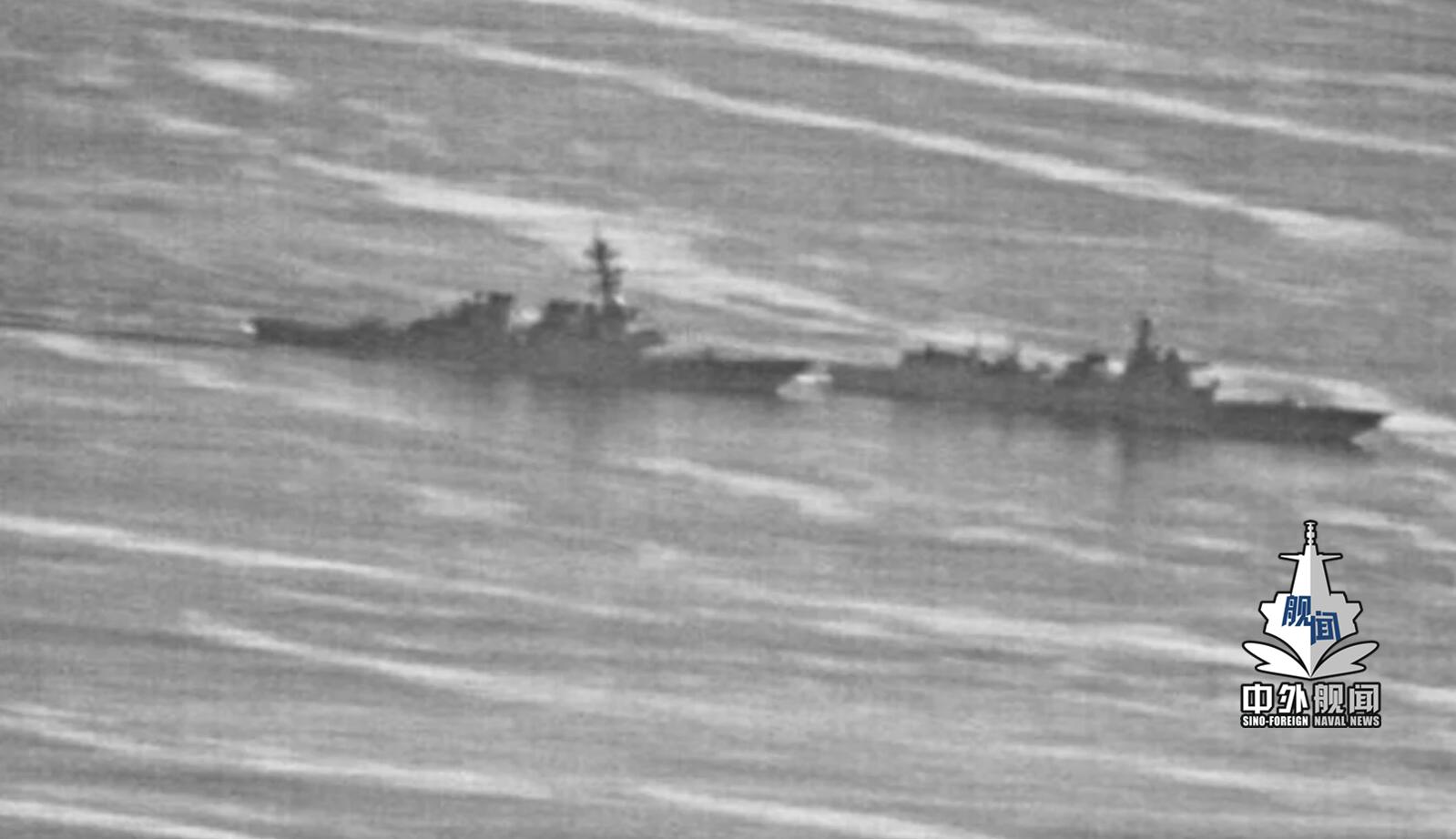 视频来了!中美战舰南海对峙视频曝光!