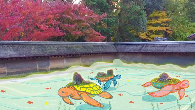 """日本著名""""枯山水""""寺庙龙安寺 欣赏美景全靠臆想"""