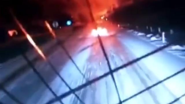 吉林爆炸现场画面曝光:车玻璃瞬间震裂