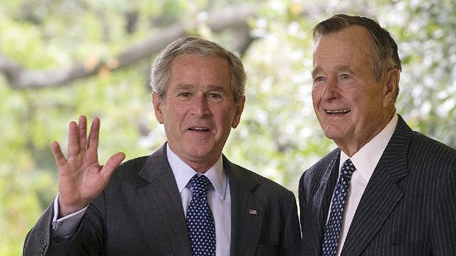 美媒曝光了老布什过世前说的最后一句话:我也爱你 儿子