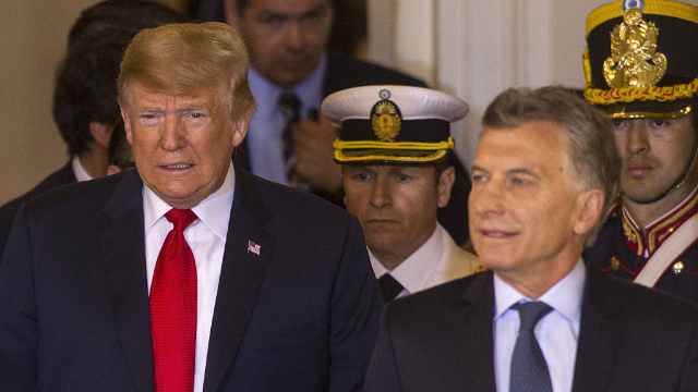 """特朗普g20峰会期间""""推销""""美国武器 阿根廷:没钱 不买!"""
