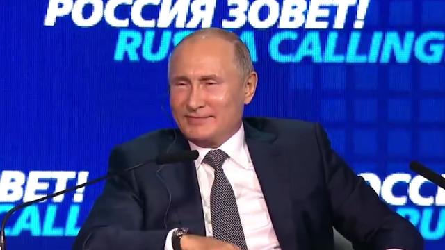 普京下台后俄罗斯怎么办?普京一句话让全场哄堂大笑后掌声雷动