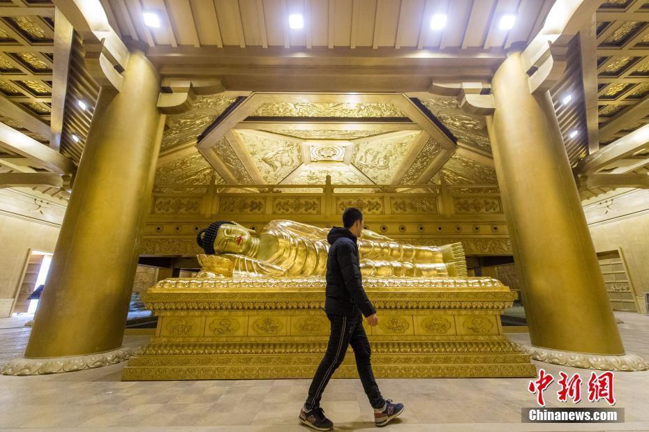 """山西复建唐代舍利塔 65吨纯铜打造""""黄金""""地宫"""
