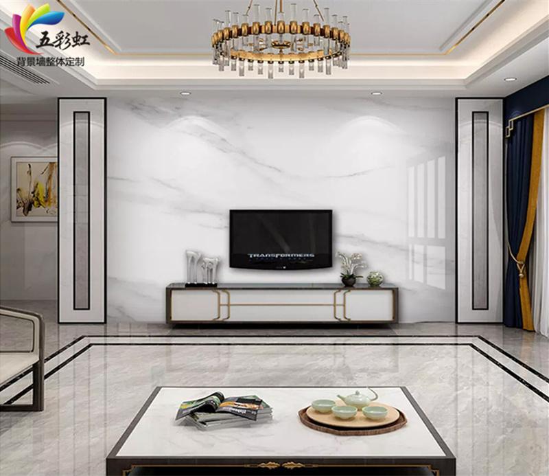 微晶石搭配护墙电视背景墙造型,2018年最出色的家居