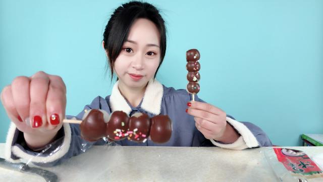 """试吃日本动漫同款""""巧克力团子"""",这颜值也太高了吧,超好吃!"""