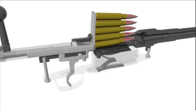 早期的M1893式毛瑟栓动步枪,3D动画演示工作原理!