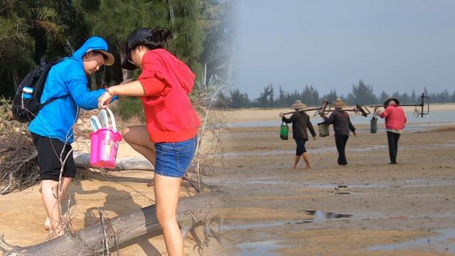 海南不光可以度假养老,农村野海滩体验渔民生活,去赶海