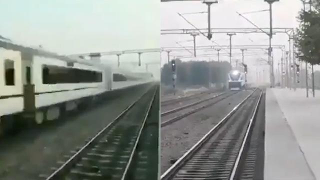 印度铁道部长晒高铁车速 竟被扒出是2倍速播放 网友恶搞太逗了