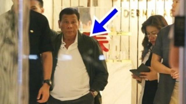 """菲律宾总统""""秘访香港""""?现场大批保镖簇拥 豪华车队护送"""