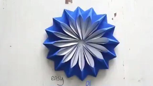 国际妈咪:手工创意,6个简单的折纸花方法