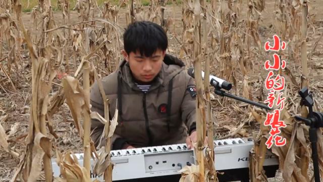 农村小浩弹奏一首《小小的新娘花》分享给大家