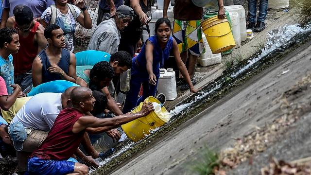 委内瑞拉大停电居民下水道抢水 检察长:调查瓜伊多是否涉事
