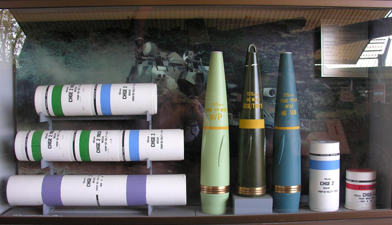 中国155弹药自研外贸平行发展 圆柱弹枣核弹并重