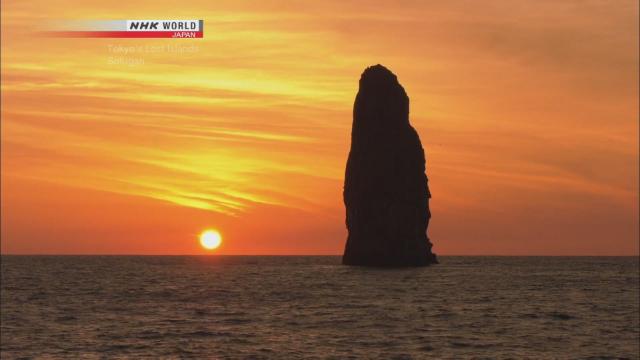 百米高石柱岛:日本孀妇岩[英文]