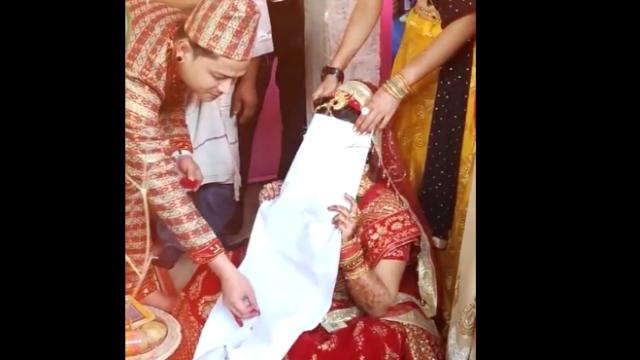 印度婚礼上的仪式