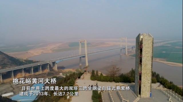 桃花峪黄河大桥航拍
