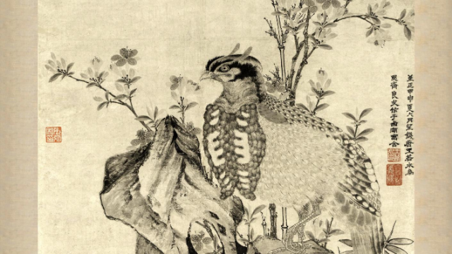 曾向太监学画鬼,被誉为元代花鸟绘画绝代高手,看禽鸟英姿传神