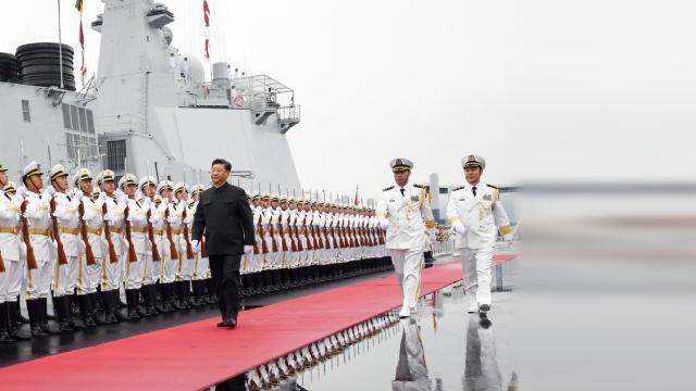 庆祝人民海军成立70周年海上阅兵活动开始 习近平检阅海上编队