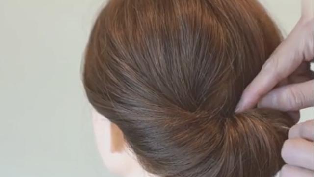 最简单的盘发,没有之一图片