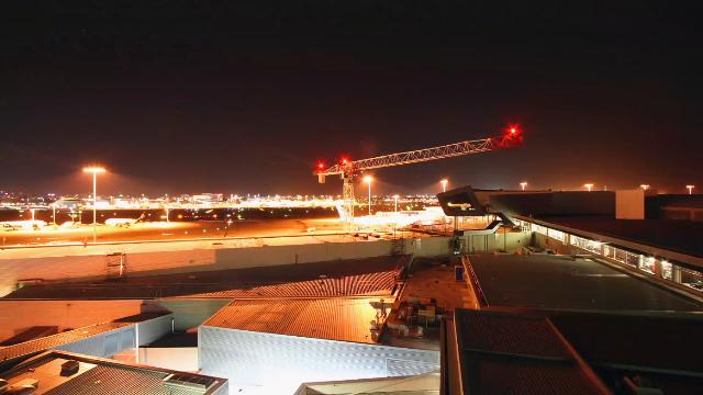 延时拍摄,悉尼机场修建航站楼
