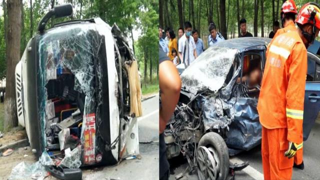 安徽五河发生一起交通事故37人受伤 其中32人为返校中考师生
