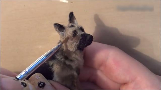 实拍!用陶瓷做一匹狼,看一只土狗如何进化成狼
