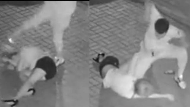 女子凌晨遭男子暴打事发地确认 涉事男子仍未归案