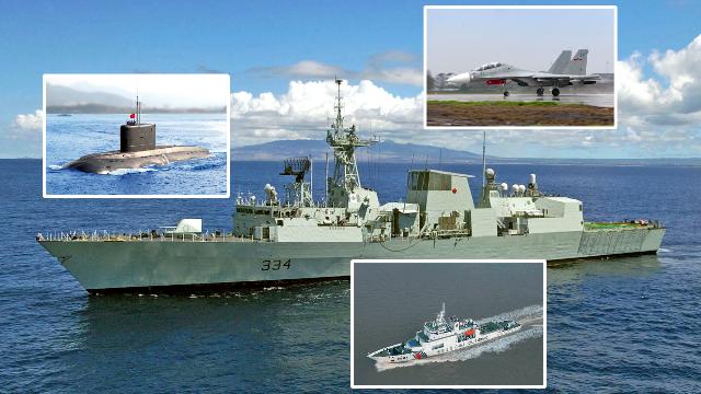 """加护卫舰:穿越台湾海峡时受到中国空军""""热烈欢迎"""""""