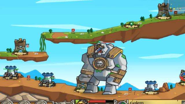 防御巨人进攻:巨型石巨人进攻我们的城堡,英雄和士兵誓死抵抗!