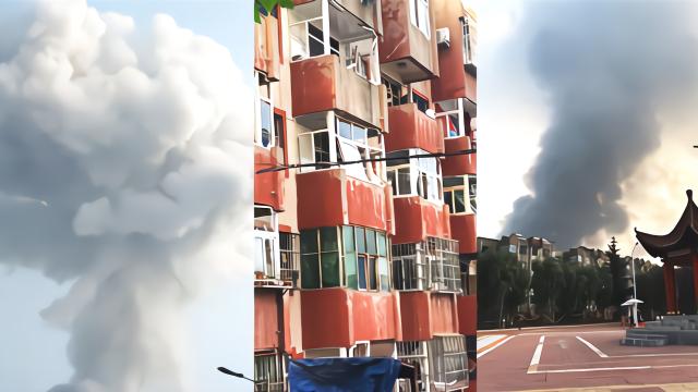 河南三门峡气化厂爆炸:民房玻璃被震裂 现场腾起蘑菇云