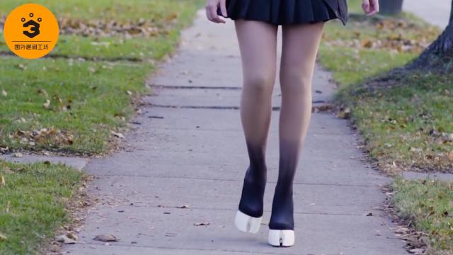 世界上最奇葩的高跟鞋,外表形似马蹄,只有踮脚才能走路